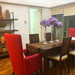 Two Bedrooms Condo at Rockwell:  Dining room by SNS Lush Designs and Home Decor Consultancy
