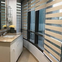 Two Bedrooms Condo at Rockwell:  Bathroom by SNS Lush Designs and Home Decor Consultancy