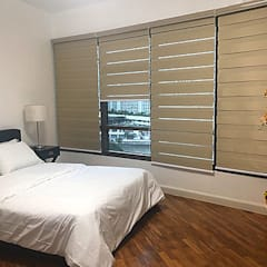 Two Bedrooms Condo at Rockwell:  Bedroom by SNS Lush Designs and Home Decor Consultancy