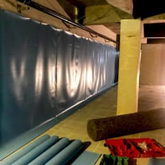Orby İnşaat Mimarlık – Kuşadası Kuştur Tatil Köyü Su Deposu Yalıtım Projesi:  tarz Duvarlar,