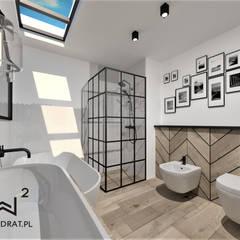 Baños de estilo  por Wkwadrat Architekt Wnętrz Toruń