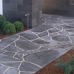 African Grey Crazy Paving (Flagstone):  Front yard by Persian Tiles