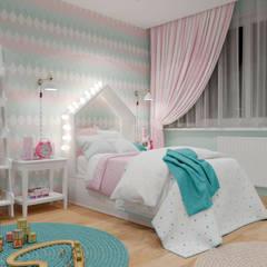 Дизайн-проект четырехкомнатной квартиры по ул. Радищева, г Минск.: Спальни для девочек в . Автор – BOHO DESIGN