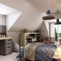 VERO CONCEPT MİMARLIK – Yunus Emre  Villa - İsveç:  tarz Erkek çocuk yatak odası
