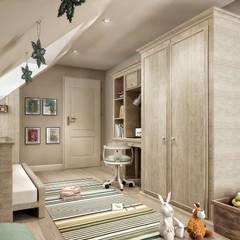 VERO CONCEPT MİMARLIK – Yunus Emre  Villa - İsveç:  tarz Kız çocuk yatak odası