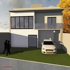 Sobrado GA: Casas pequenas  por Strauss - Arquitetura e Interiores