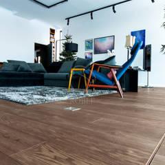 Podłogi w domu w stylu eklektycznym: styl , w kategorii Salon zaprojektowany przez Roble