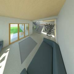 ห้องนั่งเล่น by Constructora Alonso Spa