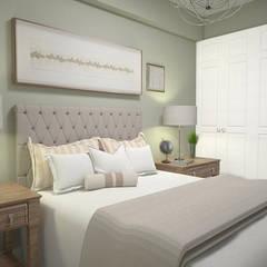 1 Bedroom Condo in Manila:  Bedroom by CIANO DESIGN CONCEPTS