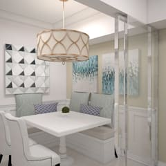 1 Bedroom Condo in Manila:  Dining room by CIANO DESIGN CONCEPTS