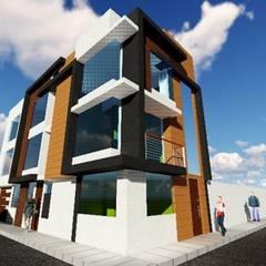 VIVIENDA MULTIFAMILIAR: Casas multifamiliares de estilo  por HyS Arquitectos