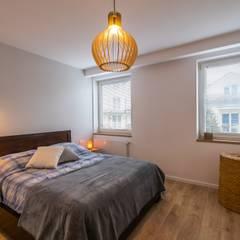 Metamorfoza mieszkania: styl , w kategorii Sypialnia zaprojektowany przez Perfect Space,