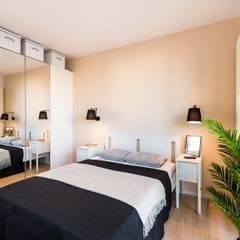 Mieszkanko dla dwojga: styl , w kategorii Sypialnia zaprojektowany przez Perfect Space