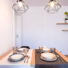 Siedliskowe klimaty: styl , w kategorii Jadalnia zaprojektowany przez Perfect Space