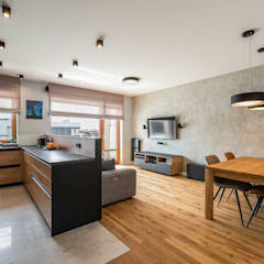Surowe wnętrza: styl , w kategorii Salon zaprojektowany przez Perfect Space,Minimalistyczny