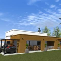 REFORMA Y AMPLIACION DE VIVIENDA SUBURBANA: Casas de campo de estilo  por Dante Gonzalez