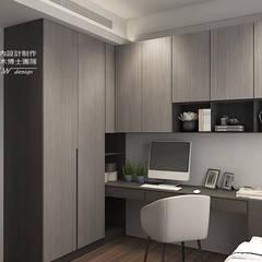 Ruang Kerja oleh 木博士團隊/動念室內設計制作, Modern
