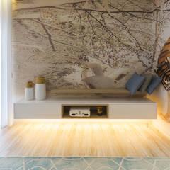 Open Space Paredes de Coura Salas de estar escandinavas por Angelourenzzo - Interior Design Escandinavo