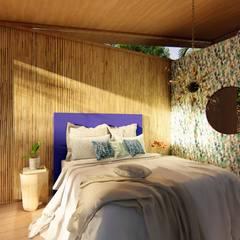 Bedroom by Eva Arceo Interiorismo, Tropical Wood Wood effect