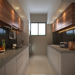 ห้องครัว โดย Sagar Shah Architects, โมเดิร์น