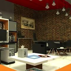 Study/office by DETAY MİMARLIK MÜHENDİSLİK İÇ MİMARLIK İNŞAAT TAAH. SAN. ve TİC. LTD. ŞTİ.