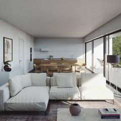 غرفة المعيشة تنفيذ FMO ARCHITECTURE