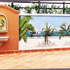 Murales originales para decoración de todo tipo de espacios Jardines de invierno de estilo moderno de Pintura decorativa de interiores Irmapenna Moderno Hormigón