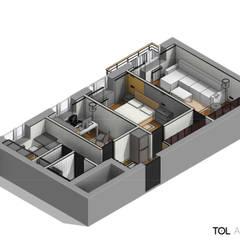 Трёхкомнатная квартира для молодой семьи на востоке Москвы.: Винные погребы в . Автор – TOL architects