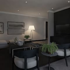 Sandton Penthouse Interior Design & Architecture:  Living room by CKW Lifestyle Associates PTY Ltd, Modern