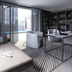 Sandton Penthouse Interior Design & Architecture:  Study/office by CKW Lifestyle Associates PTY Ltd