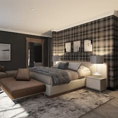Sandton Penthouse Interior Design & Architecture:  Bedroom by CKW Lifestyle Associates PTY Ltd, Modern