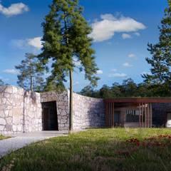 Bungalows by Bau Arquitectura Tarragona, Rustic Stone