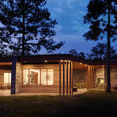 Bungalows by Bau Arquitectura Tarragona, Rustic Wood Wood effect