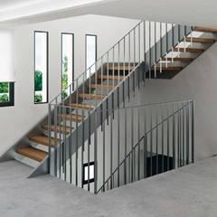 Vivienda unifamiliar El Campello: Escaleras de estilo  de Tono Lledó Interioristas S.L.