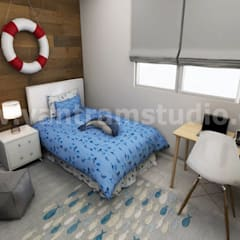 Immersive & Interactive real estate vr Apps Development by Virtual Reality Studio, Doha – Qatar:  Small bedroom by Yantram Architectural Design Studio