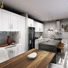 Immersive & Interactive real estate vr Apps Development by Virtual Reality Studio, Doha – Qatar:  Kitchen units by Yantram Architectural Design Studio