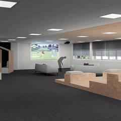 Rehabilitación de oficinas en Alicante: Edificios de oficinas de estilo  de Tono Lledó Interioristas S.L.