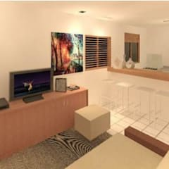 Living room by Construtora  JTH, Colonial