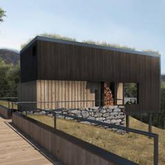 Cabins LG: Casas de campo de estilo  por Depcon,Rural