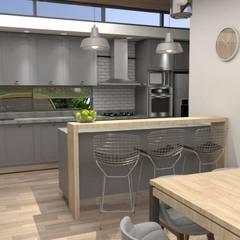CASA D - Oro Verde: Comedores de estilo  por TTEM Arquitectura