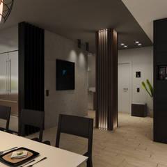 Industrial corridor, hallway & stairs by Wide Design Group Industrial