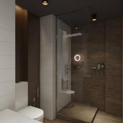 Loft в темных тонах: Ванные комнаты в . Автор – Wide Design Group