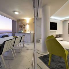 Penthouse The President Bantry Bay:  Balcony by KMMA architects