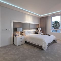 Penthouse The President Bantry Bay:  Bedroom by KMMA architects,