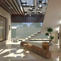 Pasillos y recibidores de estilo  por Xception the design studio