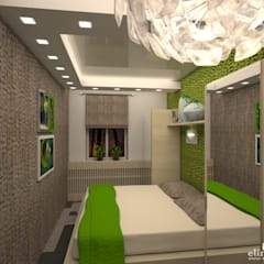 Habitaciones pequeñas de estilo  por Студия дизайна Elinarti