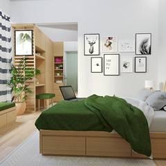 Kitchen set & interior : Kamar Tidur oleh viku, Skandinavia Kayu Lapis