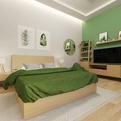Kitchen set & interior : Kamar Tidur oleh viku, Skandinavia Kayu Wood effect