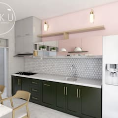 Kitchen set & interior dapur: Dapur oleh viku,
