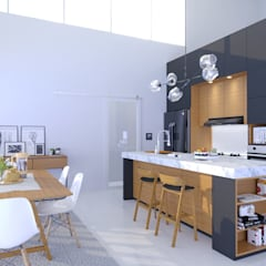 Kitchen set minimalis: Dapur oleh viku,
